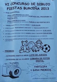 CONCURSO dibujo fiestas burtzeña 2013