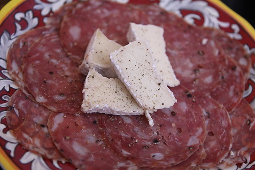 Sweet Sopressata and Camembert