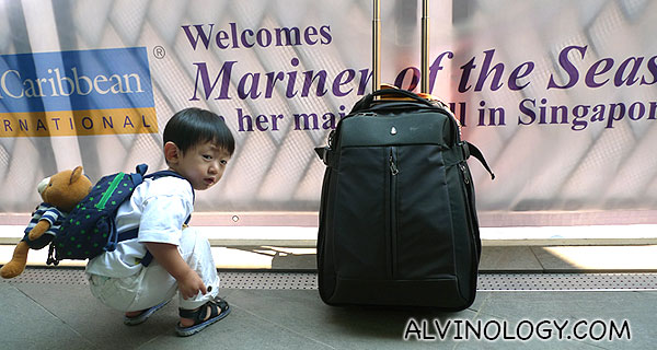 Asher on his first cruise vacation