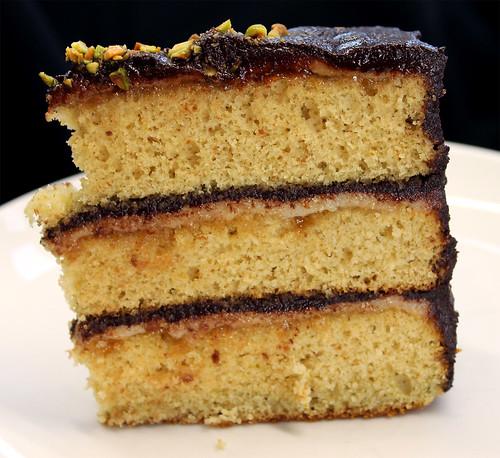 Pistachio Petit Fours Cake