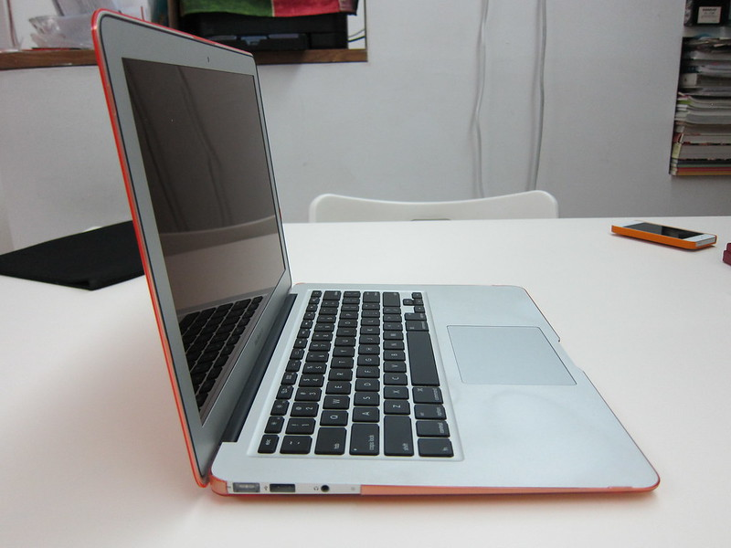 Speck SeeThru for MacBook Air 13 Inch - With MacBook Air Opened (Side View)