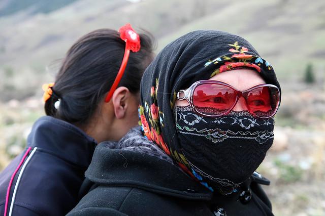 Fashonable Kazakh woman in Barkol バルクル、おしゃれなカザフ女性