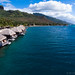 OverWater Resort in Moorea Seen from a Kite