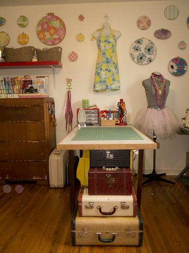 studio hoop wall vintage suitcases