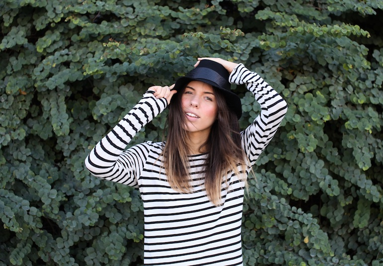 Modern Legacy fashion style blog Australia Janessa Leone hat Basically Boutique Bassike stripe dress (2 of 6)