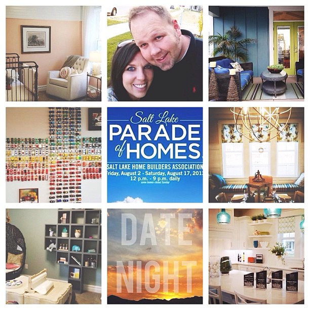 Such a fun date night tonight checking out #slcparadeofhomes. Love pretending we lived in each one. LOL Saturday the 17th is the last day!