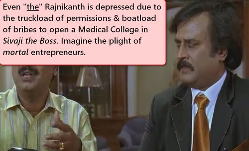 comic Rajnikanth permission problems