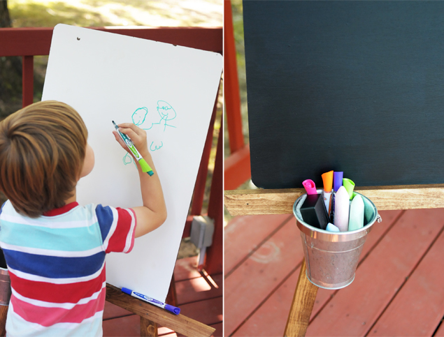 DIY Kids' Art Easel - Kaelah Bee