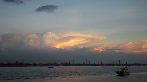 sunset clouds industrial jfe
