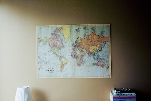 The world on my wall