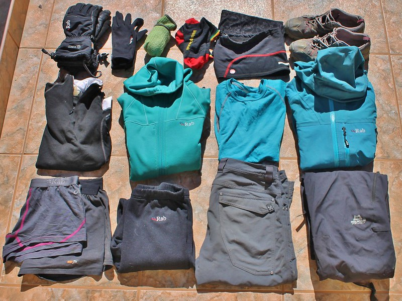 Haz's clothes for our bike trip through the Peruvian mountains