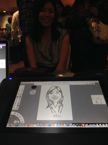 Digital live caricature for NTUC D&D 2013 - 3a