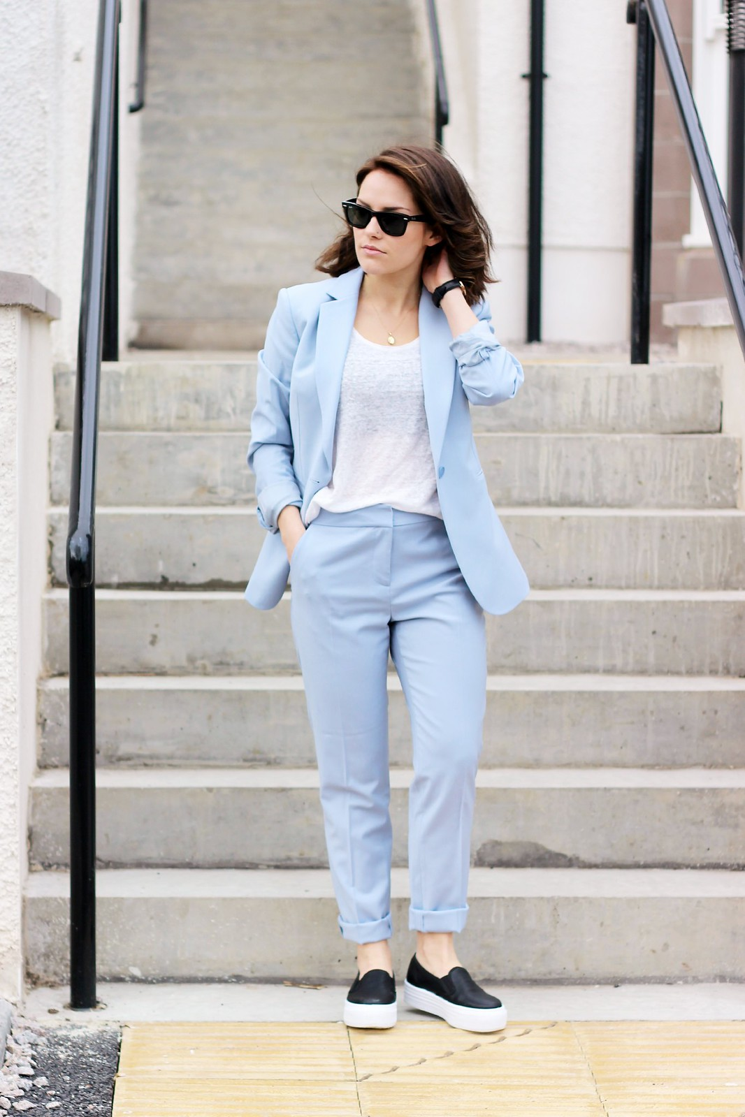 reiss powder blue suit