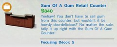 Sum of a Gum Retail Counter