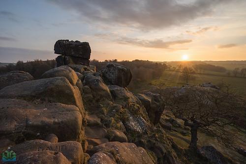 sunset derbyshire peakdistrict peaks robinhood robinhoodsstride harthillmoor