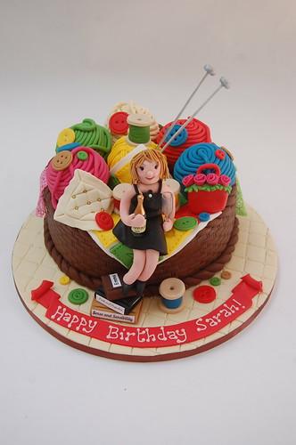 Knitting And Craft Cake Beautiful Birthday Cakes