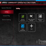 MSI GS60 2QE Ghost Dragon Gaming Center, Utility