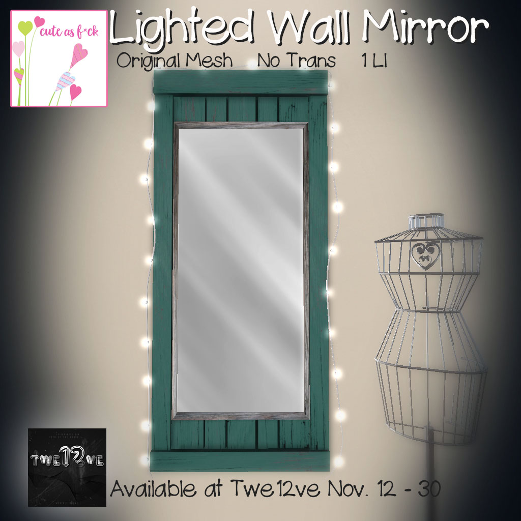 ::cute as f*ck:: Lighted Wall Mirror Exclusive - SecondLifeHub.com