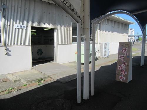 金沢競馬場の段ボール迷路