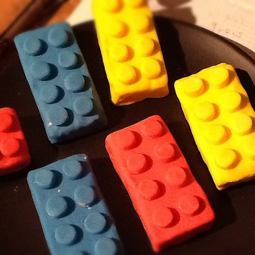 Stage 3 of project Lego birthday, bricks for cake.