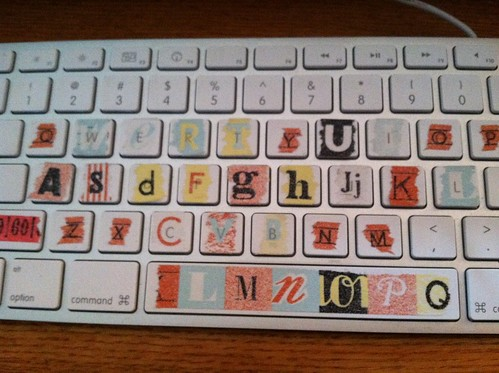 decorated keyboard by lola goetz