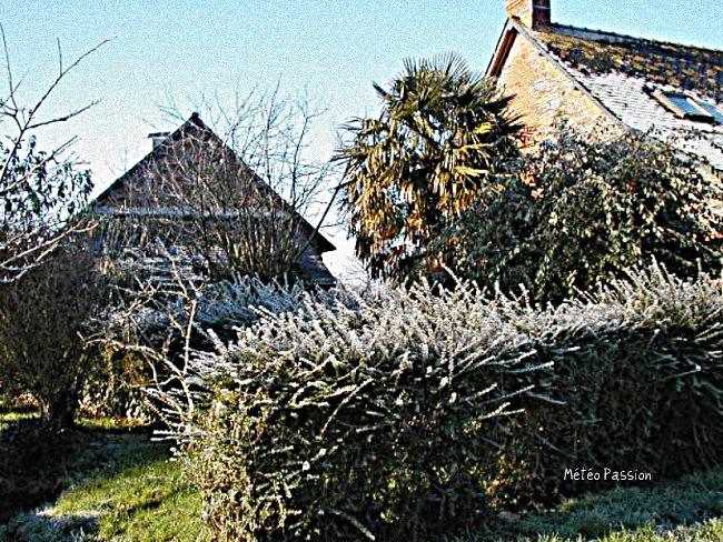 gelée blanche dans l'intérieur de la Bretagne début avril 2003 météopassion