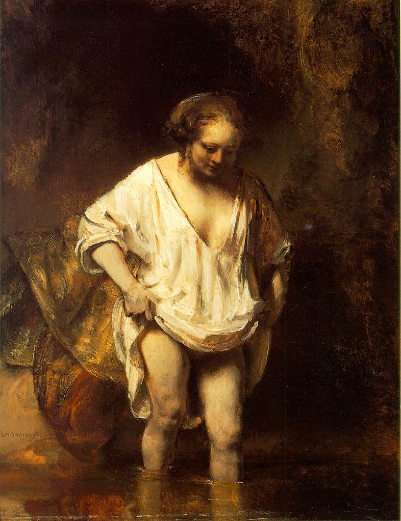 [ R ] Rembrandt van Rijn - Hendrickje Bathing in a River (aka Bathsheba Bathing)  (1654)