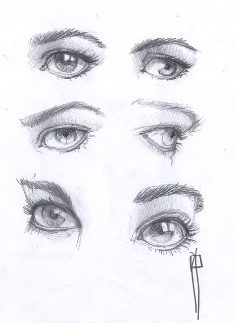 boceto dibujo ojos