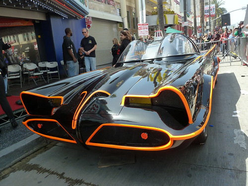 The Batmobile created by George Barris at Adam West's Star unveiling ceremony in Hollywood by jeff_soffer