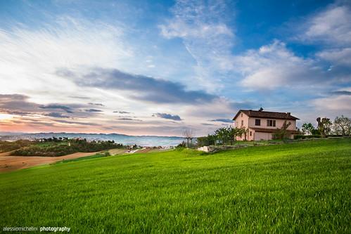 morning sky italy nature grass landscape italia paesaggio arcevia marcheregion regionemarche