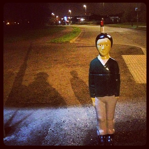 Scary Kid Road Safety Statue 2