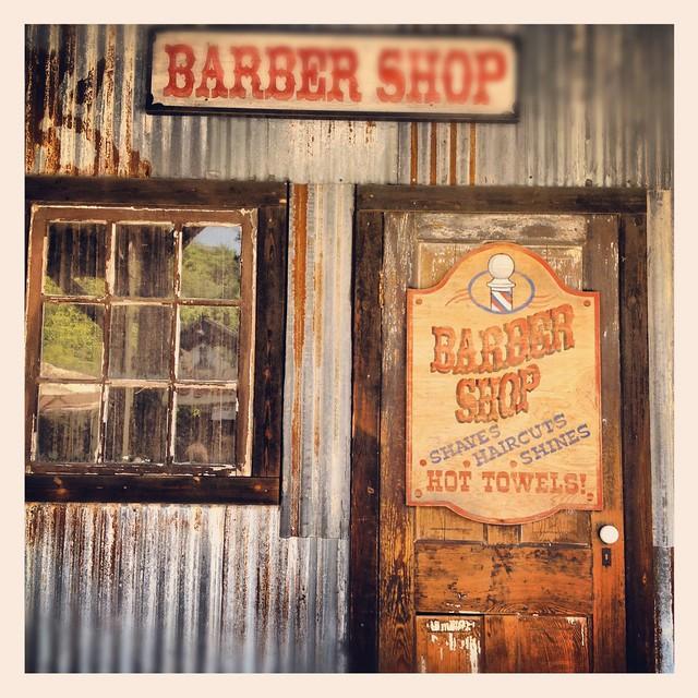Barber Shop Old West Sign Door IMG_7044 Flickr - Photo Sharing!