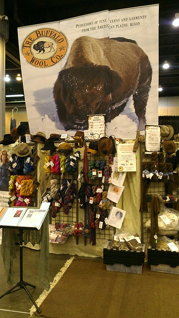 The Buffalo Wool Company booth at STITCHES South