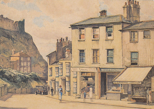 Castle Hill Road, from a watercolour painting by E Leslie Badham (1873-1944)