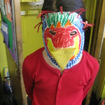 Eden With Parrot Mask