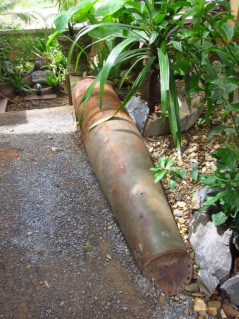 Bomb Casing used in Planter Bed