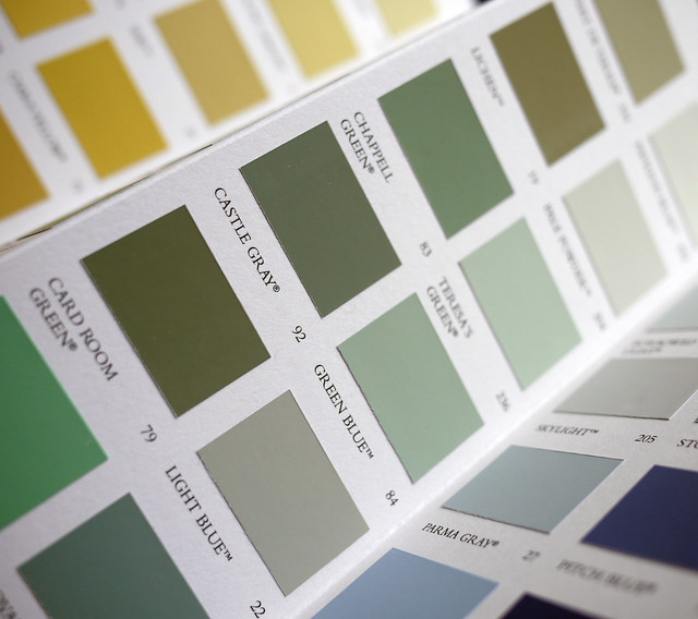 paint swatches light reflectance value
