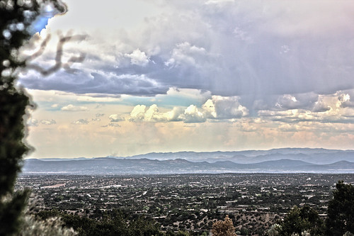 mountains newmexico santafe rain contrast landscape top stormy vista peaks stormclouds hdri canonef50mmf18ii niftyfifty picturenaut canoneos60d picturenauthdr cs5photoshop offgonzalesroad fromthehillsof earlyindicationofcoloradopeakfirenortheastofcochitilake offhydeparkroad mountainsjemez
