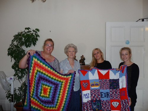 Staff at Grey Cables accept our Blankets. They were absolutely over the moon with them! Thank you!