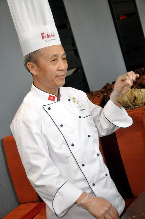 Chef with rice dumpling