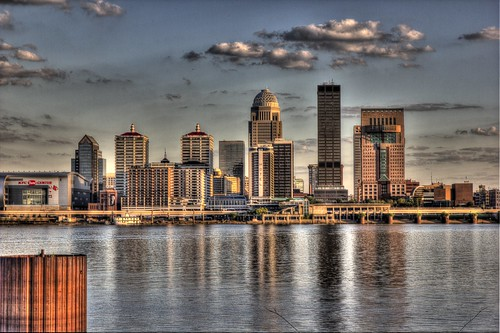 city river kentucky louisville hdr