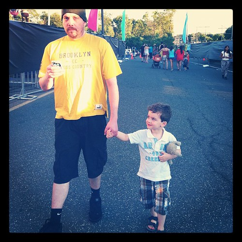 Going to the carnival with uncle Justin.