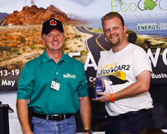 "Chris Reid of Cal State-Los Angeles wins ""Best Autocross Fun-Run Time"" with 40.343 seconds"