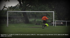 Cliffe FC 3 - 3 York Acorn (Cliffe FC win 5-4 on pens) York League Junior Cup Final 22May13