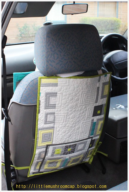 Make It Right Challenge - Car Seat Pad_Angela Walter Panel - back pocket