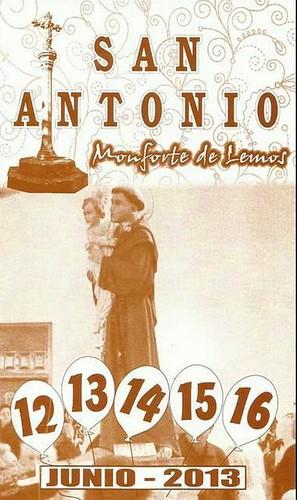 Monforte de Lemos 2013 - Festas de Santo Antón - cartel