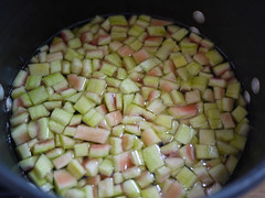 Watermelon Rind Preserves - Cooking
