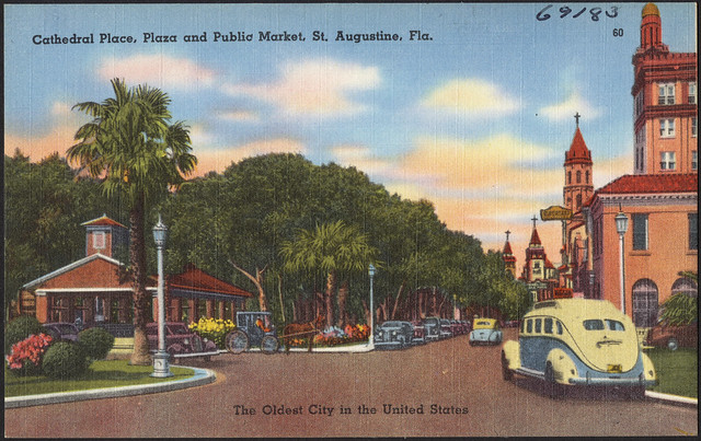Cathedral Place Plaza And Public Market St Augustine
