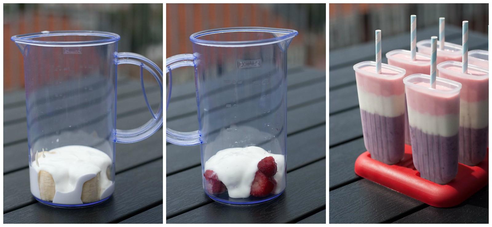 Opskrift på hjemmelavede ispinde med skyr og bær