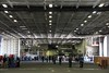The empty hangar bays directly below the USS George Washington flight deck by ABC News